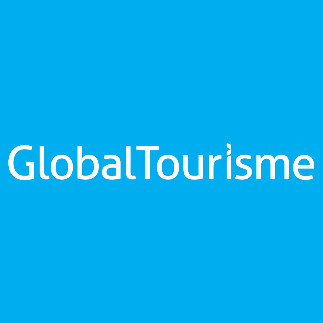 Logo - Global Tourisme - Médias Sociaux - Bleu